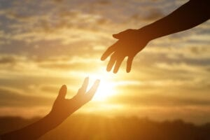 Hypnotherapy and counselling for emotional and stress-related issues, image of helping hands