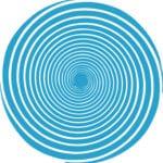 blue hypnotic spiral